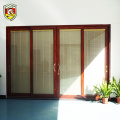 American modern house style 5mm laminated safety glass aluminium sliding door