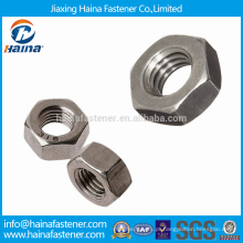 Em estoque DIN934 Aço Inoxidável Terminado Hex Nuts / Bright Hex Nuts