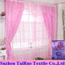 Cortina de doble flocado para cortina doméstica en cortina