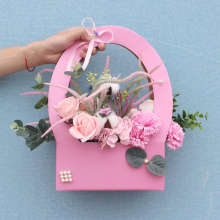 Cardboard Paper Foldable  Flower Box