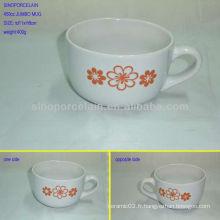 Belle tasse jumbo gaufrée fleur 450cc pour BS0228G
