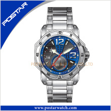Good Price New Design Men′s Luxury Chronograph Watch with Specail Blue Dial