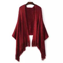 Женские мягкие длинные волосы вязаный проверено украл шали палантины шарф (SP284)