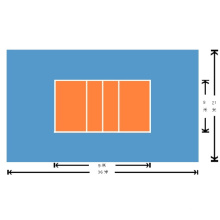Волейбольные спортивные покрытия из ПВХ