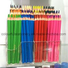 Ensemble de crayons de couleur Jumbo en bois dans une boîte d'impression en couleur