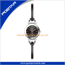 Beautiful Design Simple Face with Slim Genuine Leather Band