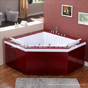 Massage-Badewanne mit Holzrock (TLP-667-Holz)