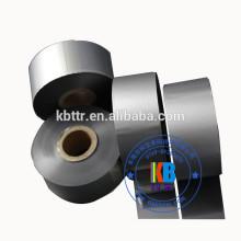 33mm*450m wash textile label printing metallic silver printer ribbon