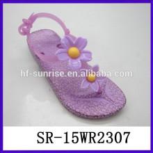 Hochwertige neue Bilder von Frauen Blumen Sandale flache Gelee Sandale Frauen Gelee Sandalen