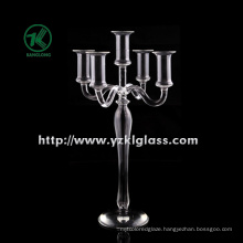 Glass Candle Holder for Home Decoration with 5 Posts