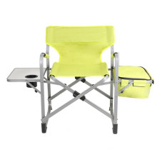 Lightweight Steel Beach Sun Lounge With Cup Table Folding Chair