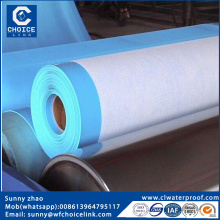 1.5mm PVC (polyvinyl chloride) roof membrane with fabric
