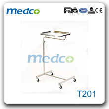 Stainless steel hospital mayo trolley cart T201