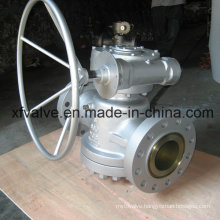 Inverted Pressure Oil Seal Balance Lubricated Worm Gear Plug Valve