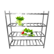 Stainless steel storage shelf for entrance