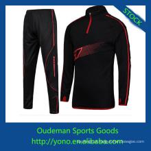 Novo design de manga comprida camisa de futebol e calças de comprimento total