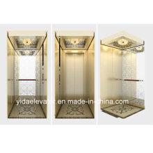 Elevador de pasajeros con espejo grabado de acero inoxidable de fabricante profesional
