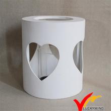 Antike weiße hölzerne Laterne Kerzenhalter