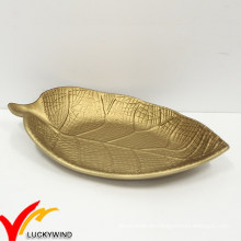 Goldenes Blatt Serving Hölzernes Teller
