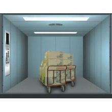 Dauerhafter Stahl gemalter Lastenaufzug für Lagerraum