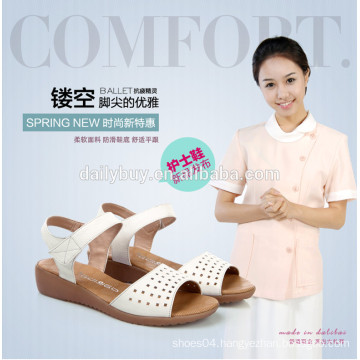 2016 genuine leather girl soft-soled sandals
