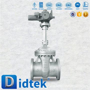 Fournisseur fiable Didtek API600 Vanne à tiroir motorisée en carbone de 16 '' 300LB pour Chemical Plant
