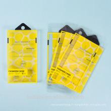 Afficher la nouvelle boîte claire faite sur commande en plastique d'emballage de PVC de boursouflure pour le cas de téléphone portable