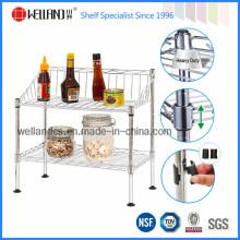 Fabricación patentada de la fábrica del estante del estante del estante de la cocina del cromo (CJ-C1146SP)