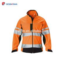Jaune vert imperméable 3m imperméable à l'eau Gilet de sécurité de Vis / veste réfléchissante avec la bande réfléchissante de veste de poche