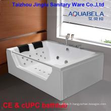 2 personne acrylique massage baignoire plateau de douche jacuzzi bain à remous
