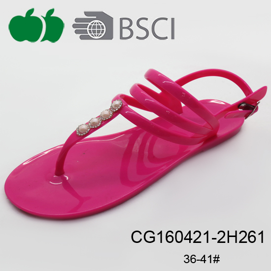 simple style summer jelly sandals