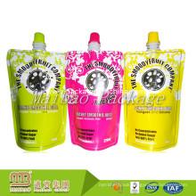 Leak Proof Custom Design Different Colors Printed Plastic Standup Spouted Fruit Juice Doypack