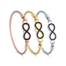 Diseño de la pulsera ajustable del encanto del infinito lindo vendedor caliente para la muchacha