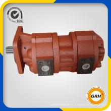 Bomba de engranaje hidráulico dúplex de la calidad excelente para la excavadora de la topadora (CBGJ1032 / 1032)