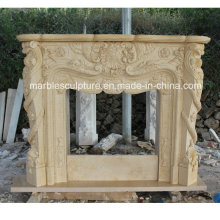 Hot Selling New Design Luxury Marble Fireplace with Hand Carved (SY-MF150)