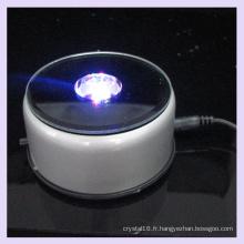 Base lumineuse en plastique de rotation de miroir de LED pour l'affichage en cristal 2D / 3D