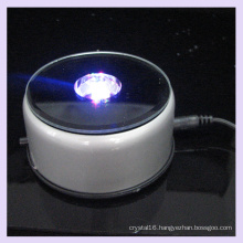 Rotating Mirror Plastic LED Light Base for 2D/3D Crystal Display