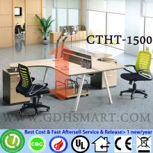 CTHT-1500 manual ajustável de altura regulável mesa de centro ajustável em vidro