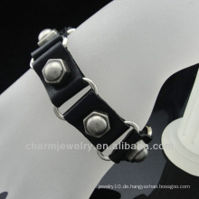 Großhandels-echtes Leder-Bolzen-Mann-Verpackungs-Armband BGL-032