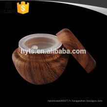 Pot de crème en plastique grain de bois 5ml
