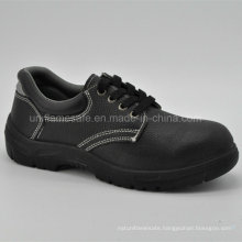Full Black Leather Men Safety Shoes