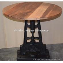 Table à bois à recycler en bois