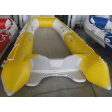 4.2m 0.9mm PVC White&Yellow Inflatable Boat