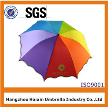3 Fold Printing Logo Small Umbrella with Bag in Rainbow Colors