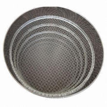 Standard test sieve with plain weave 4-635 mesh