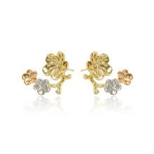 97406 xuping forme de fleur délicate conception multicolore boucles d'oreilles dames