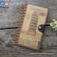 Customized Gold Lamination Cover Spiral Buckle Notebook