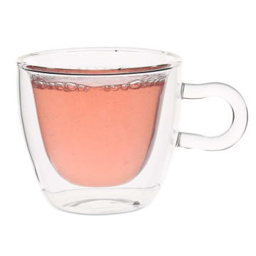 Cheap for Handmade Tea Cup Double Layered Borosilicate Glass Cup For Green Tea supply to Argentina Suppliers
