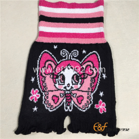 Girls Marshmallow Loop Yarn Elastic Knitted Haramaki Shorts