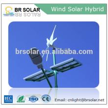 A instalação simples brisa a turbina eólica do começo e o sistema híbrido 1000w do painel solar